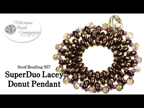 SuperDuo Lacey Donut Pendant
