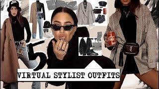 Trying on Instagram #VIRTUALSTYLIST outfits!!! || outfit styling inspo