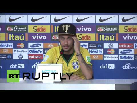Brazil: Neymar cries in first press conference since injury
