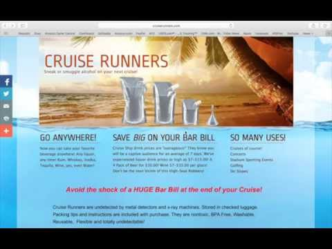 Sneak Alcohol On A Cruise Rum Runner Flasks How To