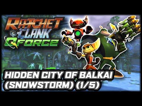 Ratchet & Clank: Q-Force (PS3) - Hidden City of Balkai (Snow Storm) (Part 1 of 5)
