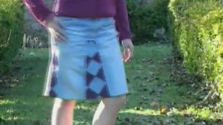DIY sexy jeans skirt (Recycle old Denims)