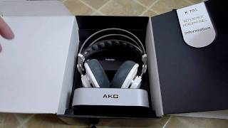 AKG K701 headphones unboxing