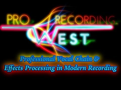 Professional Vocal Chain and Effects Processing in Modern Recording. Feat. - Michael Oskam
