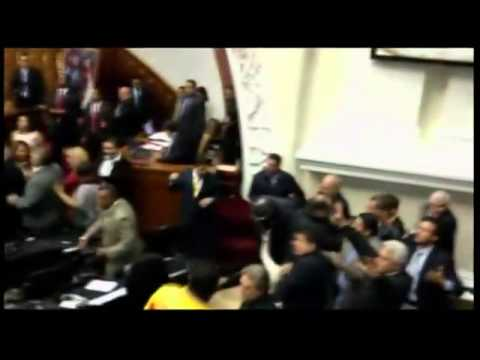 Venezuelan MPs In Post Election Brawl