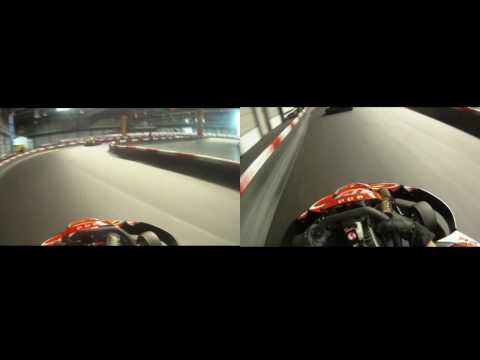 KARTFAHREN HELMKAMERA WACKERSDORF GOPRO MOTORSPORTS HD SPLITSCREEN RENNEN