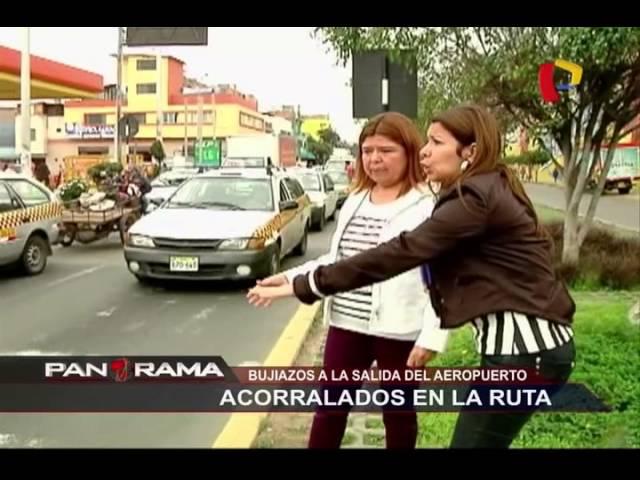 Acorralados en la ruta: 'bujiazos' a la salida del aeropuerto
