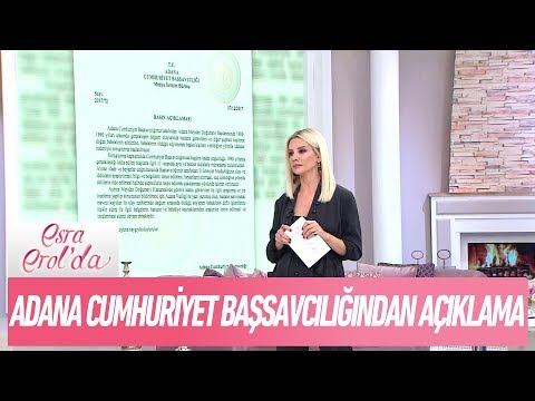 Adana Cumhuriyet Başsavcılığı soruşturma başlattı - Esra Erol'da 7 Aralık 2017