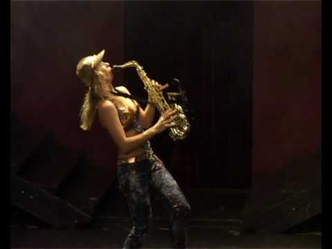 Female Saxophonist-tap Dancer Viktoriya Saxy video