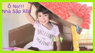 Xem bé Peanut huỷ diệt ngôi nhà làm bằng 300 quả bóng trong 1 phút - hài trẻ em