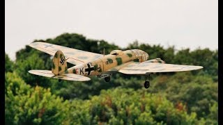 GIANT SCALE MULTIPLE WW2 RC BOMBERS DISPLAY AT LMA RAF COSFORD - 2014