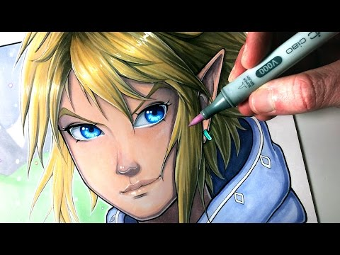 Let's Draw LINK from THE LEGEND OF ZELDA: BREATH OF THE WILD - FAN ART FRIDAY