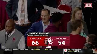 Texas Tech vs Oklahoma Men's Basketball Highlights