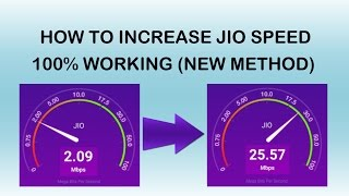 How To Increase Jio Net Speed (New Method)