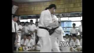 100-man kumite. Akira Masuda