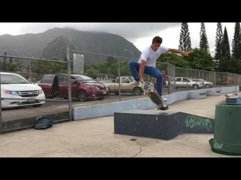 New Tricks At Kaneohe Skatepark!