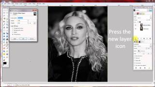 GIMP Tutorial - Black and White Film Grain