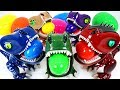 Five Fearless Baby Dinosaurs Fighting Against A Giant Dinosaur And Surprise Eggs Play DuDuPopTOY mp3