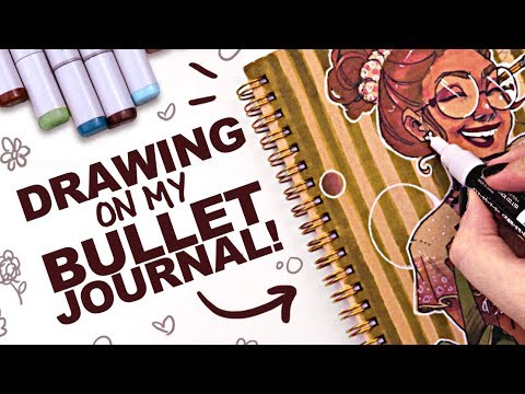 CUSTOMIZING MY BULLET JOURNAL! | Copic Markers on Toned Paper