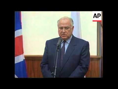 RUSSIA: MOSCOW: TONY BLAIR TRAVELS ON METRO DURING OFFICIAL VISIT