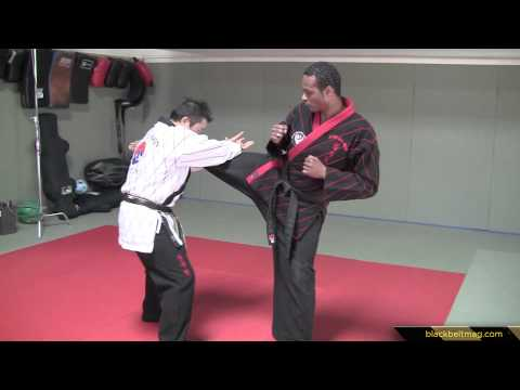 Hapkido Techniques vs. Medium-Range Roundhouse Kicks Demonstrated by Han Woong Kim Image 1