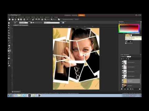 Как сделать в фотошопе коллаж из фотографий ютуб
