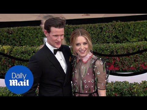 Claire Foy arrives on the SAG Awards red carpet with Matt Smith - Daily Mail