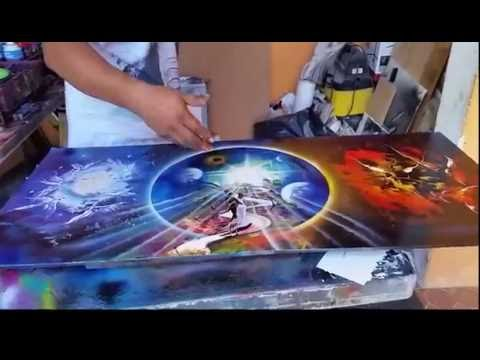 Angels And Demons Spray Paint Art video