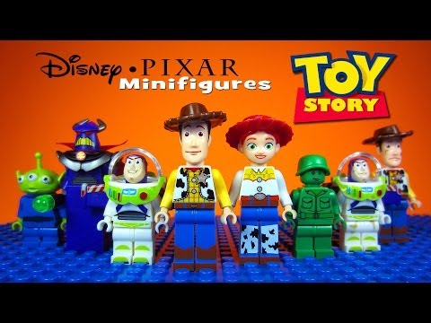 Lego Toy Story Disney-pixar Knockoff Minifigures Woody Buzz Lightyear (bootleg) video