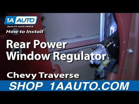 How To Install Replace Rear Power Window Regulator 2009-13 Chevy Traverse