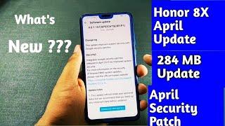 Honor 8X April Update |