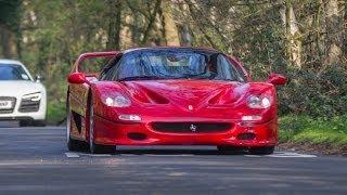 Ferrari F50 PURE V12 SOUND -  tunnels + ride + chase