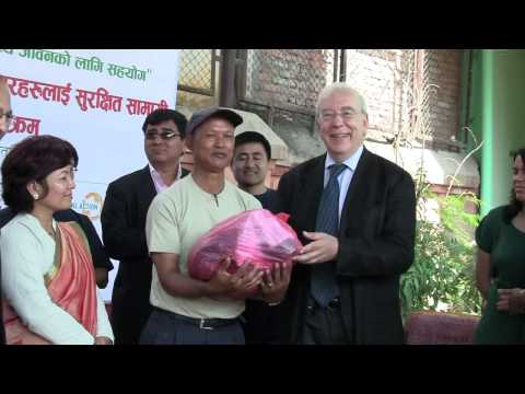 PRISM: Safety equipment distribution to the waste workers by Dr. Alexander Spachis