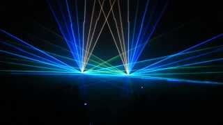 Full diode full colour lasershow demo 2x 2500mW RGB
