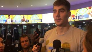 Juancho Hernangomez postgame vs Warriors 2.13