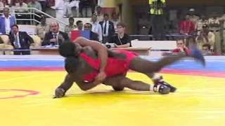 2008 Commonwealth Youth Games: 58 kg Ebikeweimo Wilson (NGR) vs. Rahul Aware (IND)