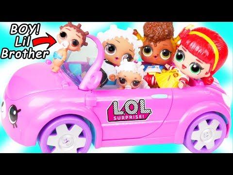LOL Surprise Doll Fresh Gets New Cutie Cars Car Toy + Custom Lil Brother Punk Boi Boy, Toys R Us