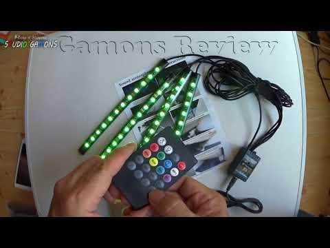 py0117 EECOO LEDテープライト 音に反応サウンドセンサー内蔵 フルカラー 足下照明 USB式 防水 高輝度 RGB車内装飾用 多種フラッシュモード 全8色に切替