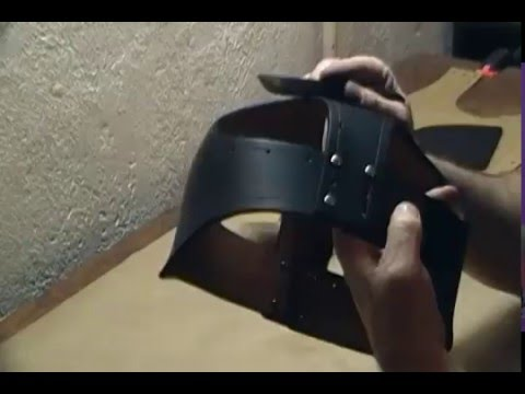 How To Make a Leather Samurai Helmet