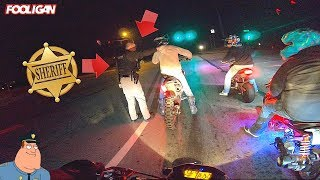 Sheriff Sneaks Up and GRABS Biker for Wheelies!