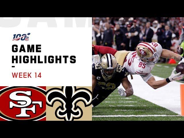 49ers vs. Saints Week 14 Highlights | NFL 2019 thumbnail