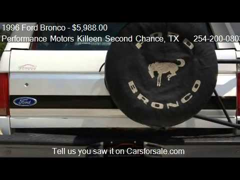 1996 Ford Bronco Xlt For Sale In Killeen Tx 76543 Youtube