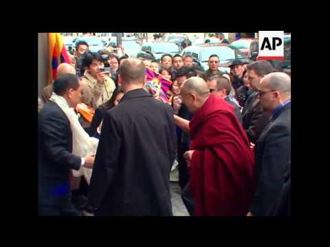 Dalai Lama arrives in Washington for talks with President Barack Obama.