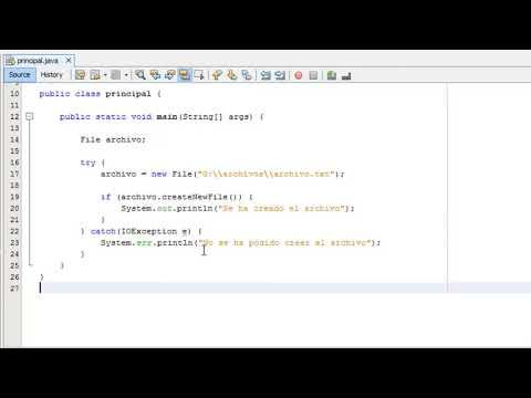 Curso Java #26 Como crear un archivo de texto en Java NetBeans