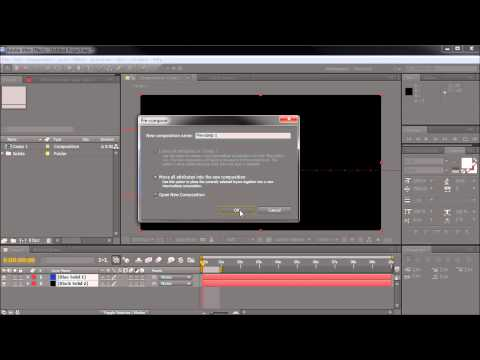 60 Second After Effects Tutorial : Show Cropped Portions of Precomps -HD-