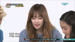 """[131030] Weekly Idol - SPICA """"The Cup Song"""""""