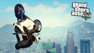 GTA Online: Infinite Bike Glide/Flying - Epic Bike Trick in Stunt Races! (GTA 5 Cunning Stunts)