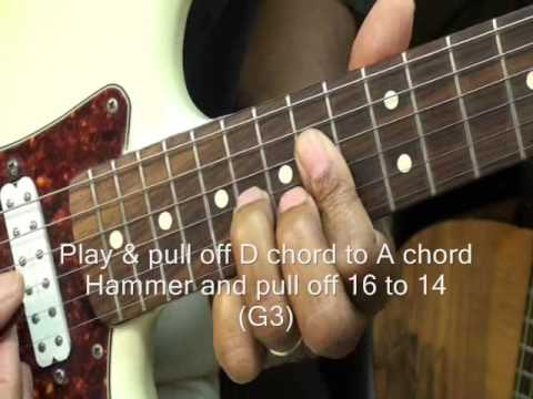 WE WILL ROCK YOU Queen Guitar Solo Part 2 How To Play On Guitar