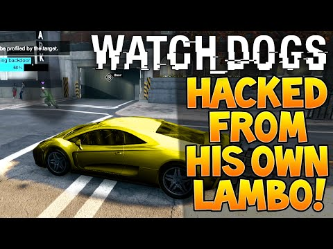 "Watch Dogs Online ""HACK"" From Inside His Own ""LAMBORGHINI"" Supercar!"