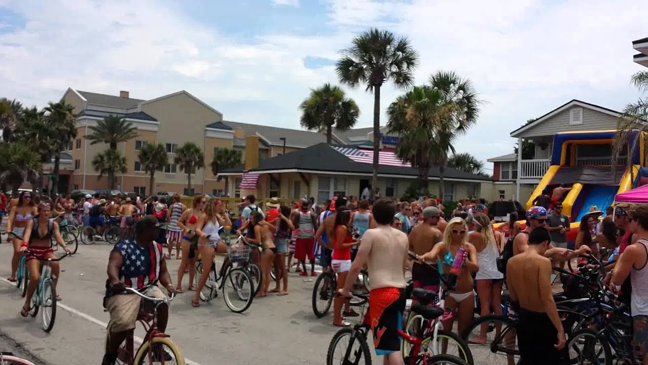 Bikes Jacksonville Fl Huge Bike Party Jax Beach FL